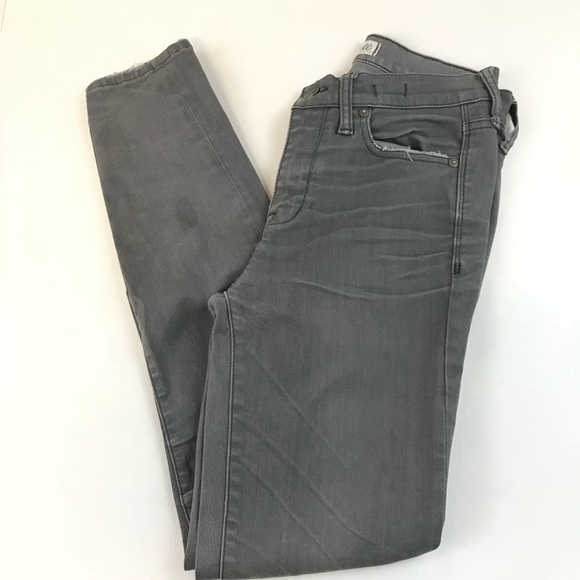 Madewell Denim - Madewell Hi Rise Skinny Jeans Womens Size 25 Gray